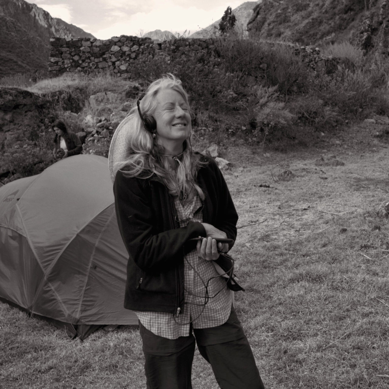 Sara, in the Andes, 2008
