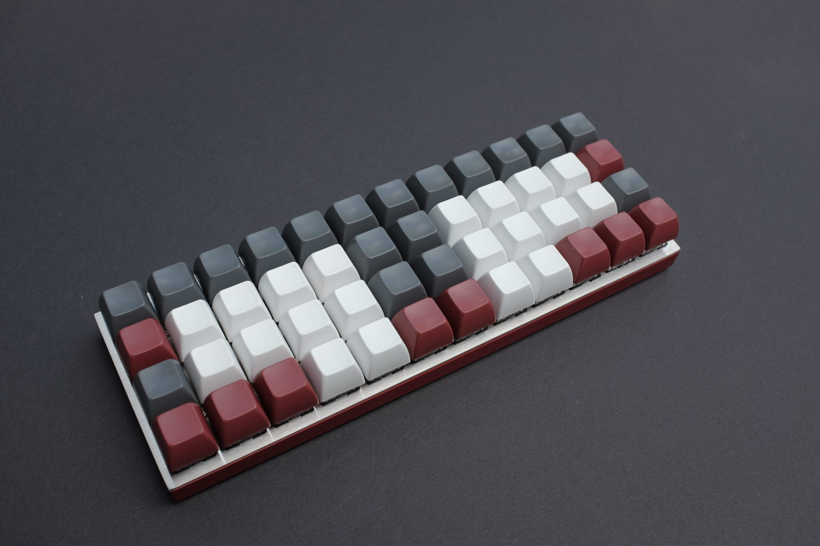 Planck with SA profile keycaps
